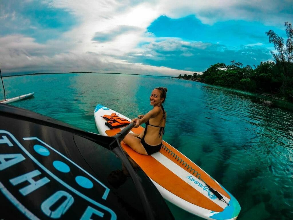 Stand up paddle boarding outdoor