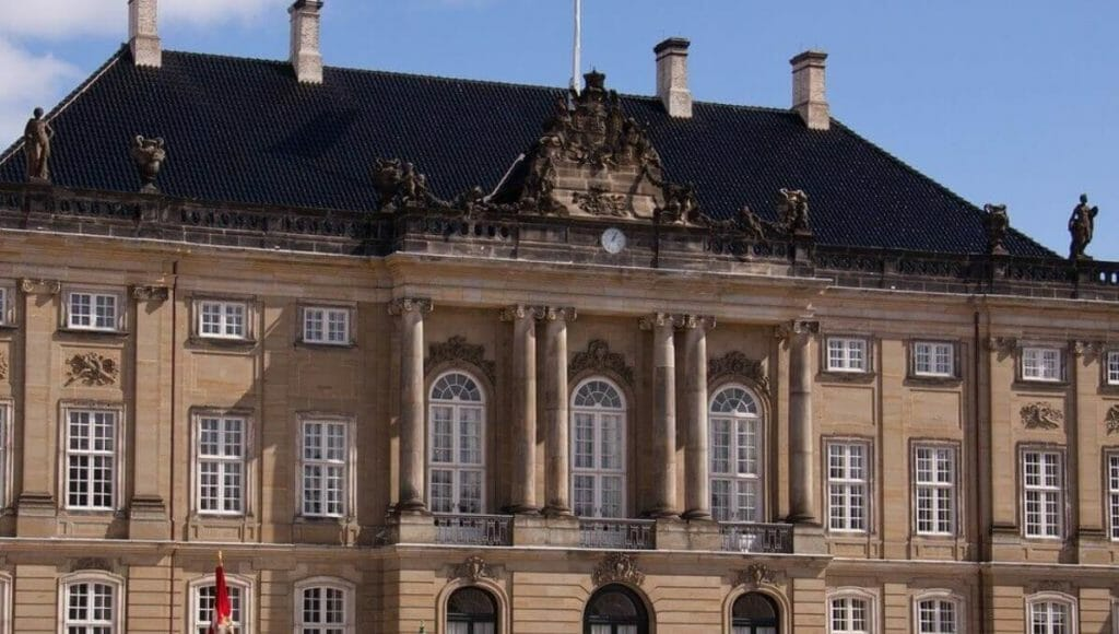 Blue Royal Palace in Denmark
